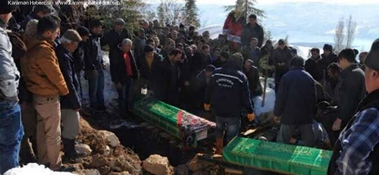 Yangında Hayatlarını Kaybeden Aile Fertleri Defnedildi
