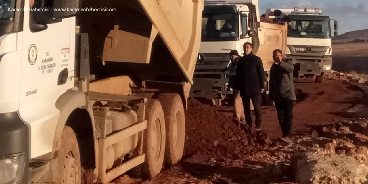 Karaman'da Kumlama Çalışmaları Devam Ediyor