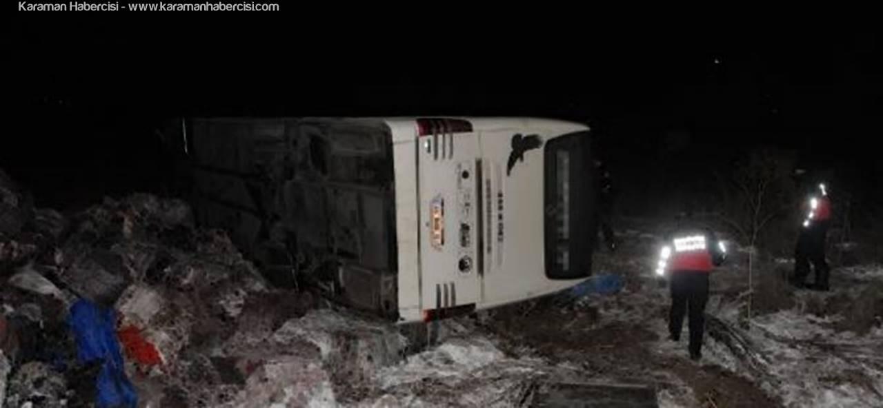 Konya Edirne Otobüsü Kaza Yaptı : 31 Yaralı