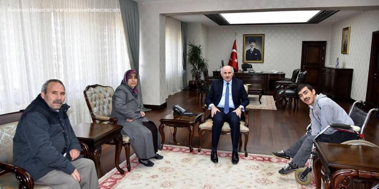 Güder Ailesinden Karaman Valisi Fahri Meral'e Anlamlı Ziyaret