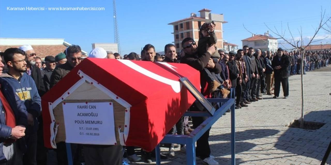 Trafik Kazasında Hayatını Kaybeden Polis Memuruna Hüzünlü Veda