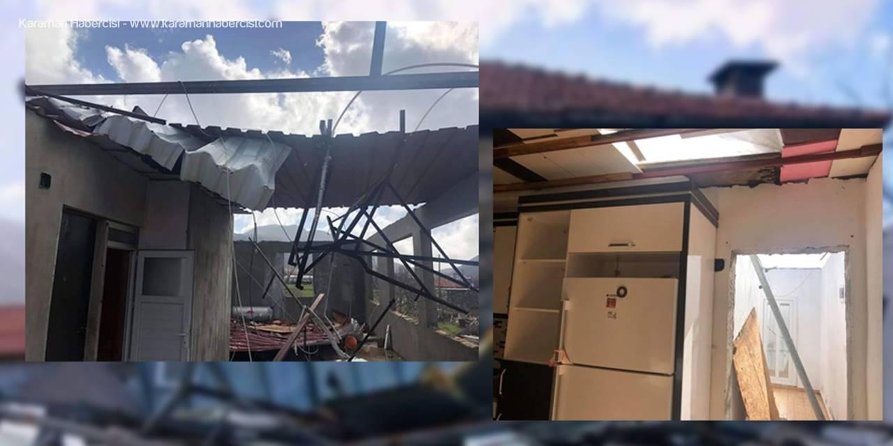 Antalya'da Şiddetli Rüzgar Evin Çatısını Uçurdu: 1 Çocuk Yaralı