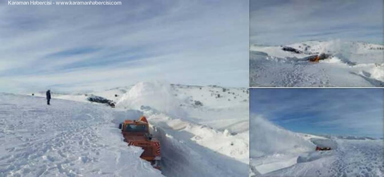 Taşkent Ermenek Yolunda Sibirya'yı Aratmayan Görüntüler