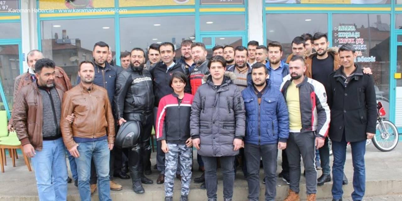 MHP Belediye Başkan Adayı Savaş Kalaycı Motosiklet Tutkunlarıyla Bir arada