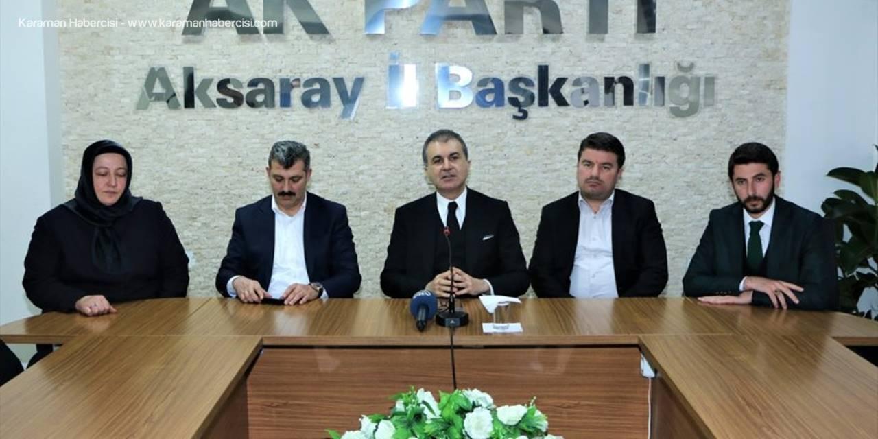 """AK Parti Sözcüsü Ömer Çelik """"Kadın Ve Genç Üye Konusunda Hassasiyetimiz Var"""""""