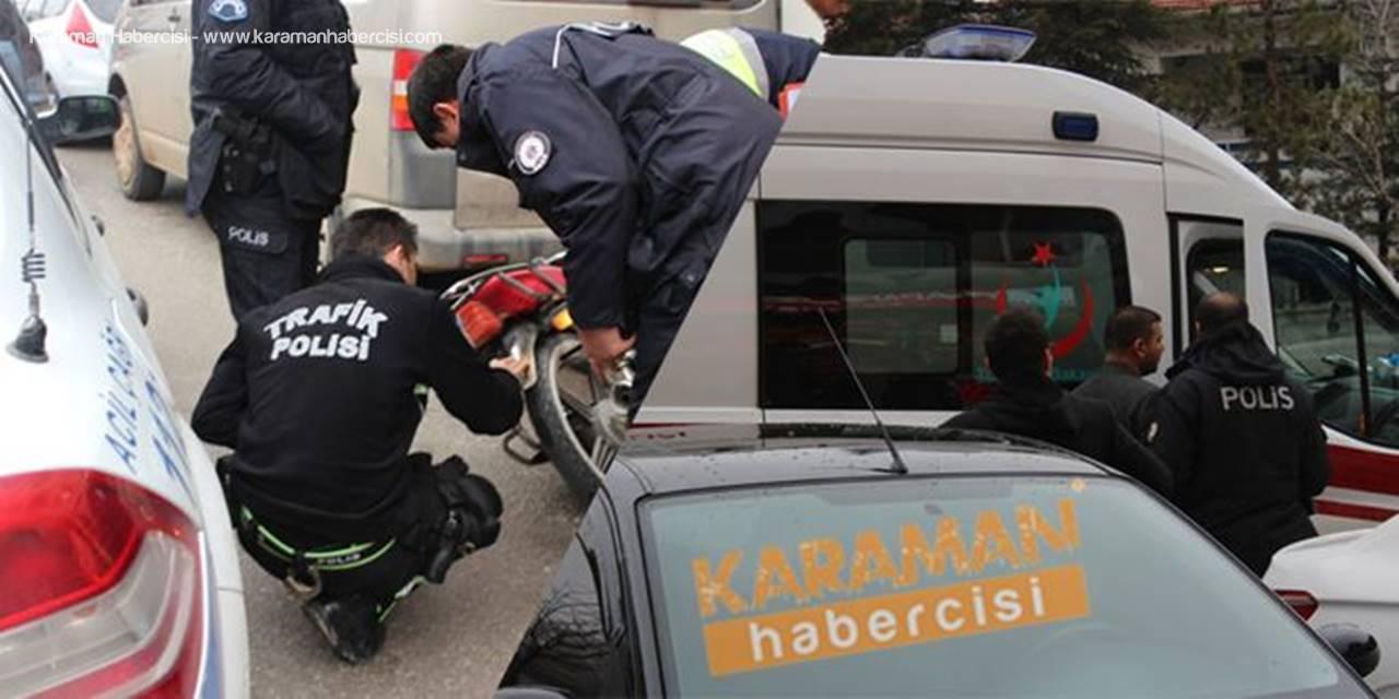 Karaman'da Motosiklet Yayaya Çarptı