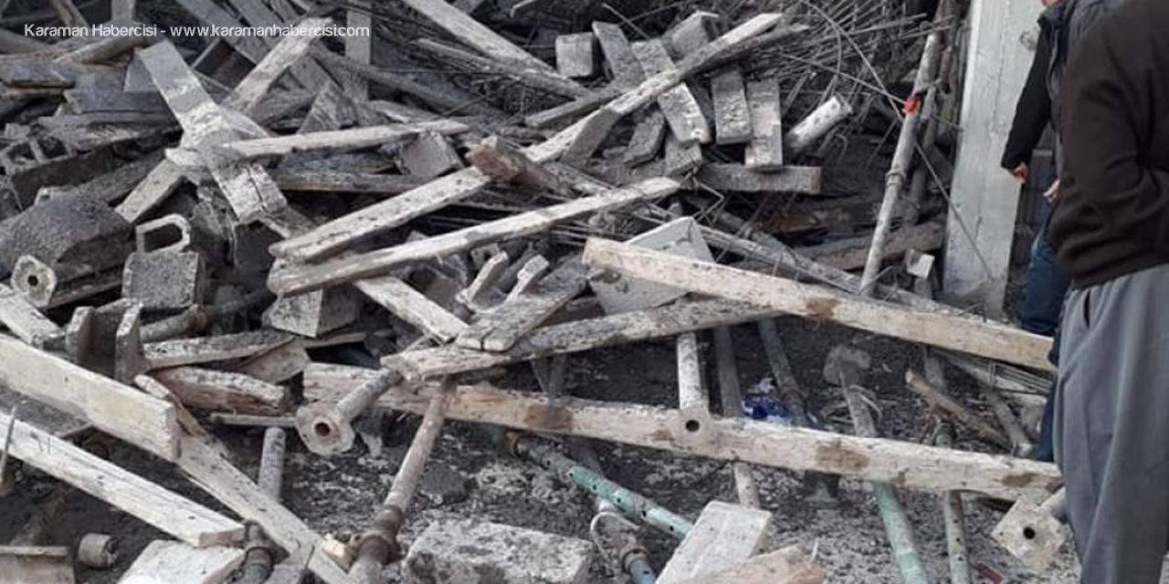 Mersin'de İnşaat İskelesi Çöktü: 4 Yaralı