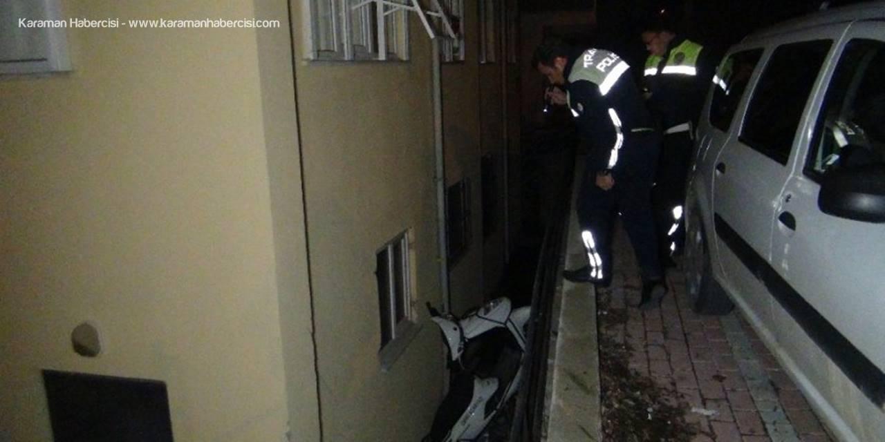 Antalya'da Motosikletle İstinat Duvarından Düştü