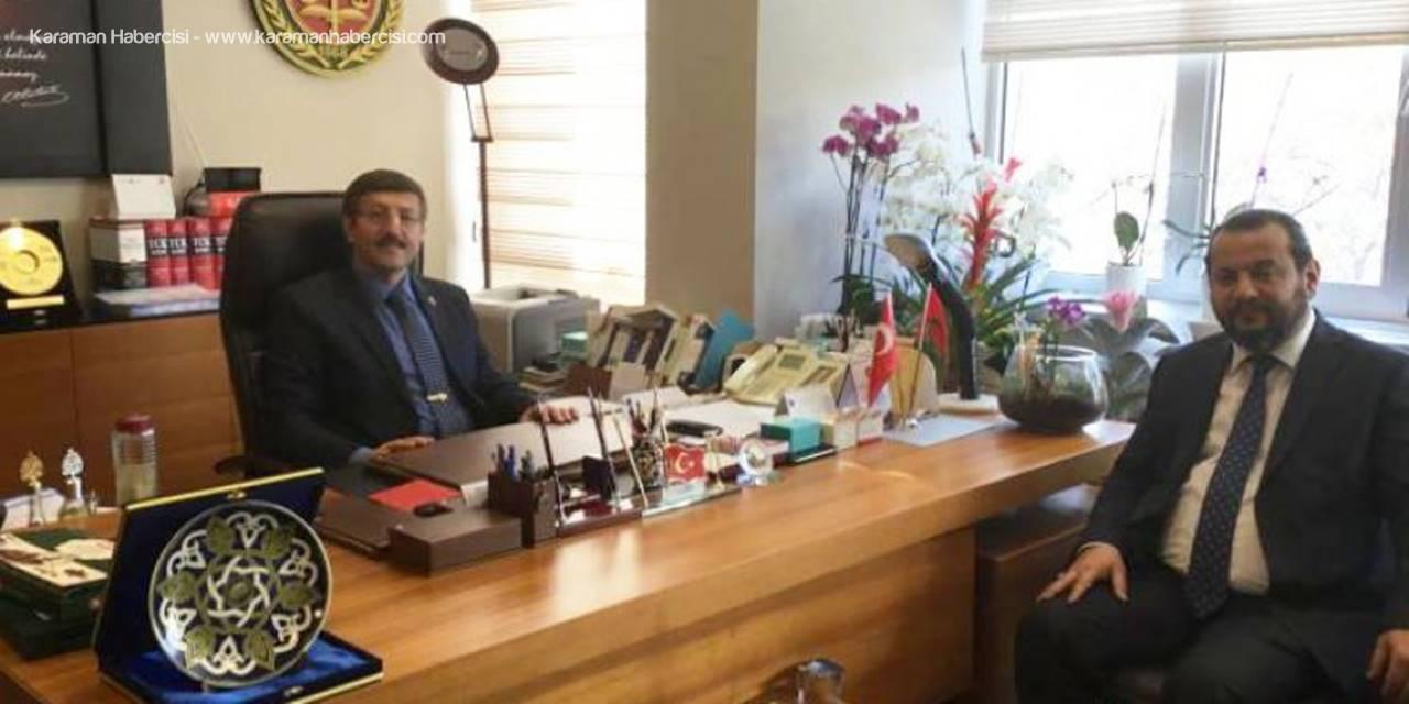 KMÜ Rektörü Mehmet Akgül'den Hayırlı Olsun Ziyareti