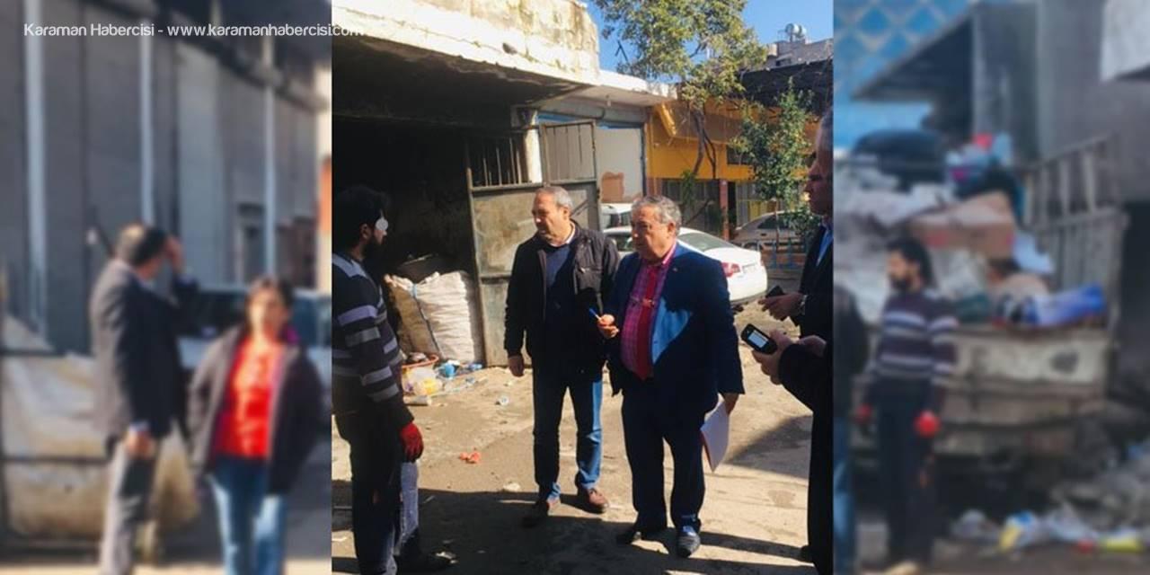 """Mersin'de Çöp Depocuları Ve Hurdacılara """"Çocuk Çalıştırmayın"""" Tebligatı"""