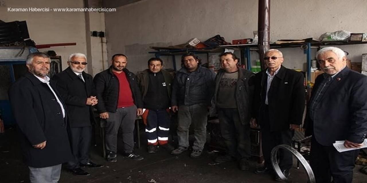 Saadet Partisi Karaman Belediye Başkan Adayı Şaban Şahin'den Esnaf Ziyaretleri