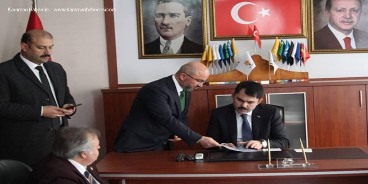 Ak Parti Belediye Başkan Adayı Sami Şahin, Bakan Murat Kurum'a Projelerini Sundu