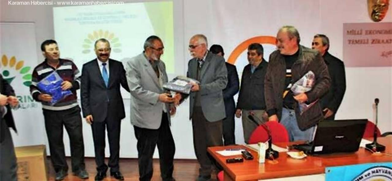Karaman'da İyi Tarım Uygulayan Üreticilere Sertifikaları Törenle Teslim Edildi