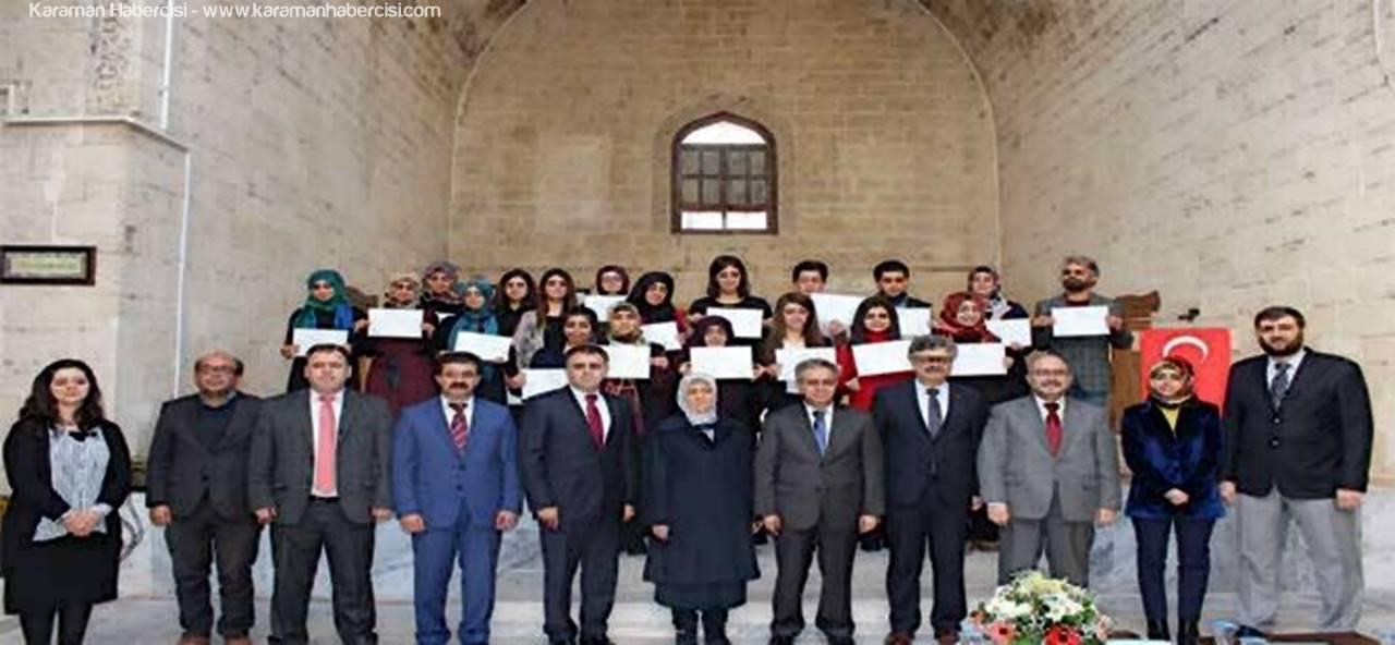 Karaman'da İşaret Dili Kursiyerleri Sertifikalarını Aldılar