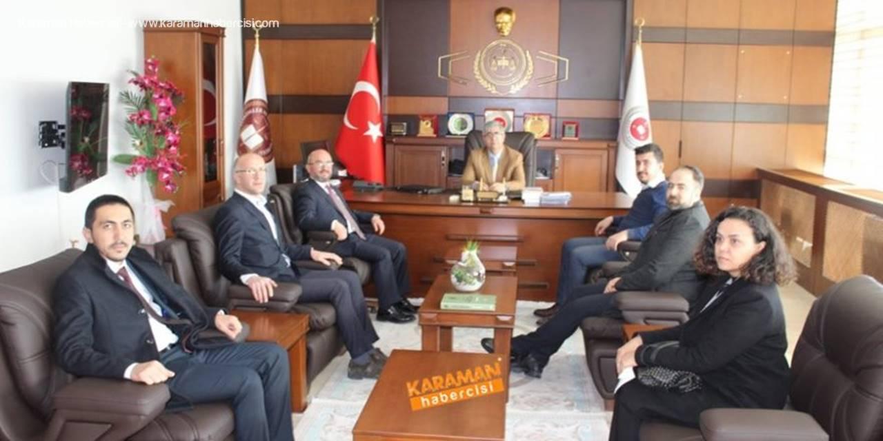 AK Parti Karaman Belediye Başkan Adayı Sami Şahin Yeni Adliye Binasını Ziyaret Etti