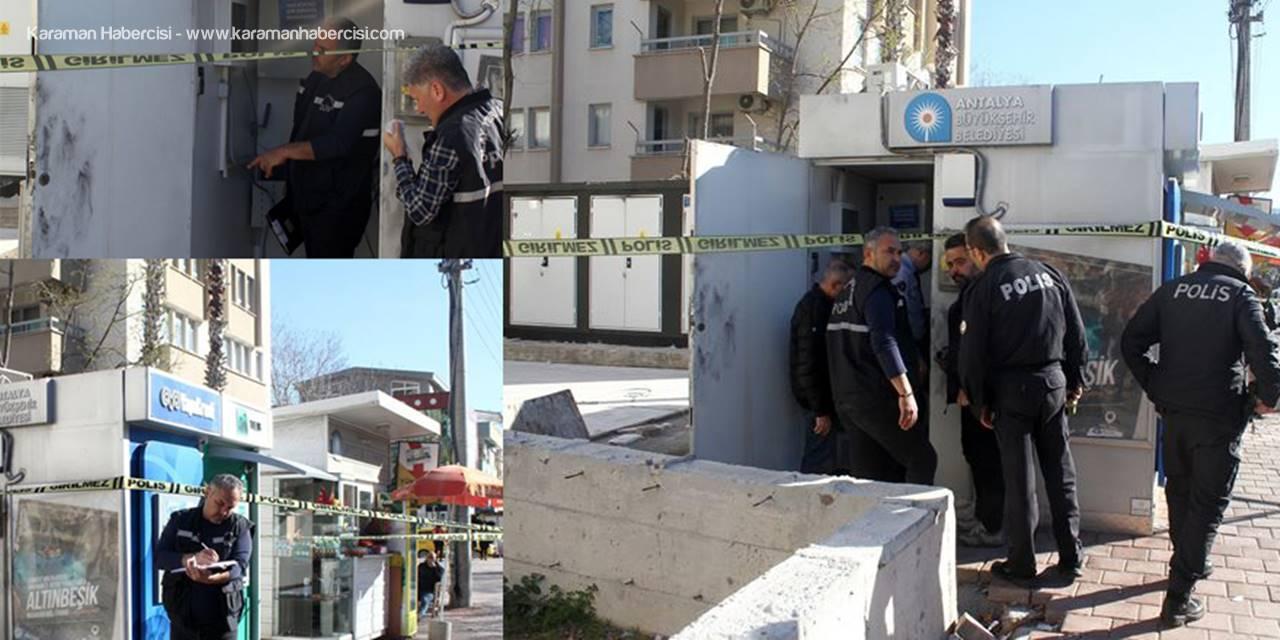 Antalya'da Madeni Hırsızlar ATM'yi Soydu