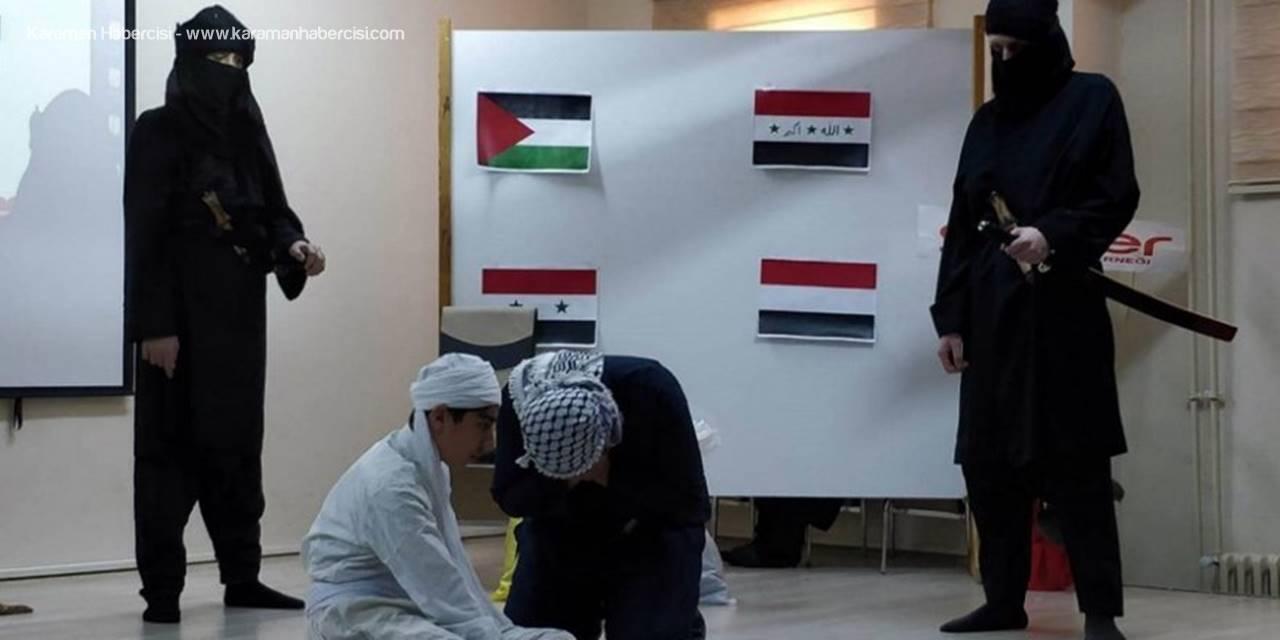 Karaman'da Öğrencilerden Arapça Şiir ve Metin Canladırması