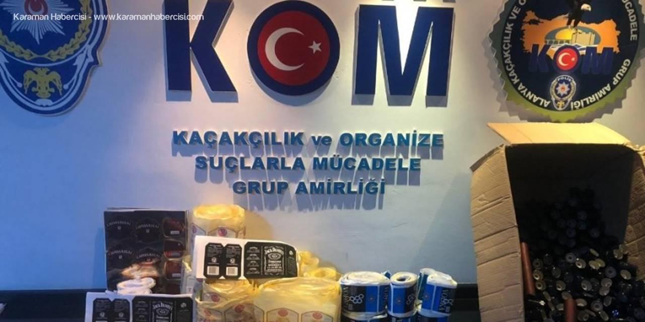 Antalya'da Sahte İçki Ve Etil Alkol Ele Geçirildi