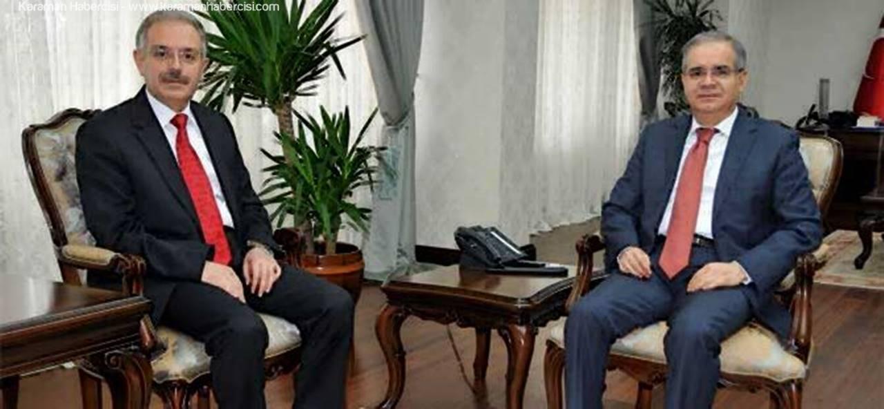 KMÜ Rektör'ü Gökmen'den Vali Tapsız'a Veda Ziyareti