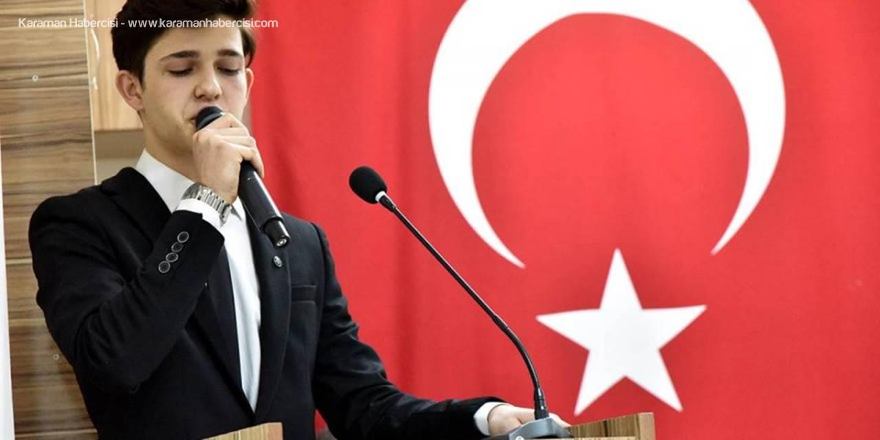 Karaman'da İstiklal Marşımızın 98'nci Yıldönümü Kutlandı