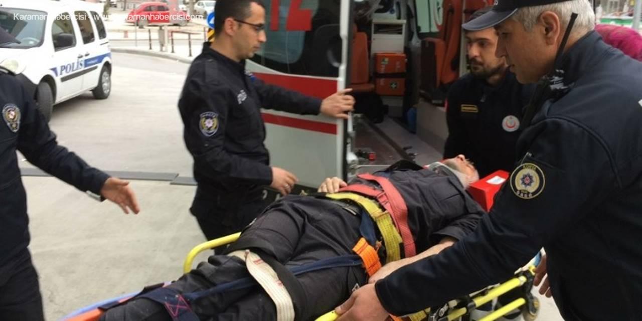 Konya'da Araç Durdurmak İçin Yola Çıkan Polise Otomobil Çarptı