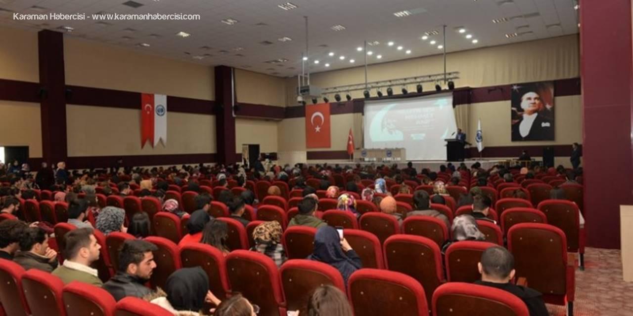 Karaman'da Mehmet Akif Ersoy'u Anma Etkinlikleri Devam Ediyor