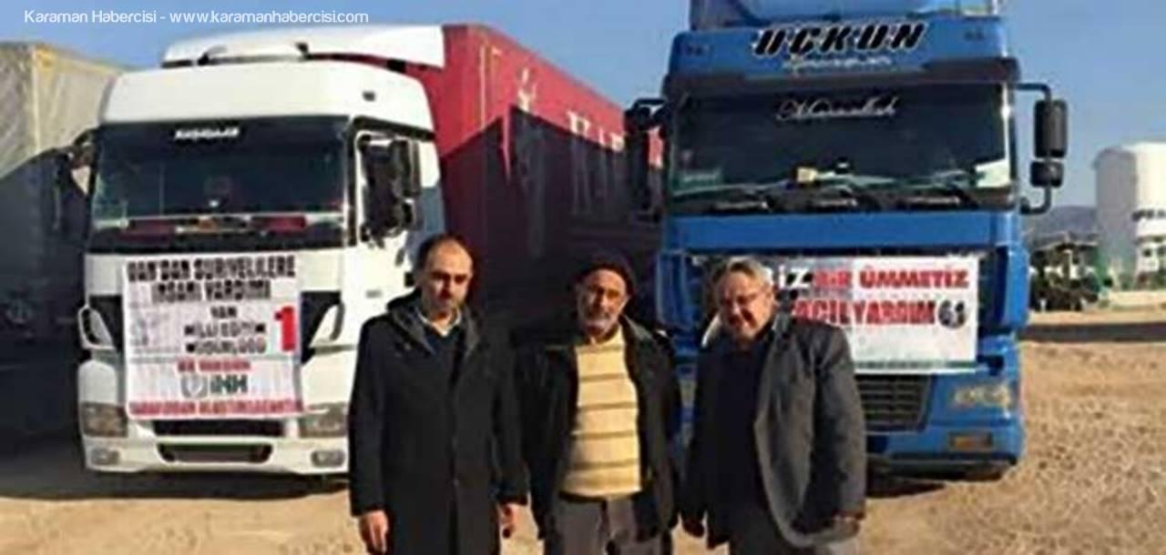 Halep'e Giden Yardım Tır'ları Kilis'e Ulaştı
