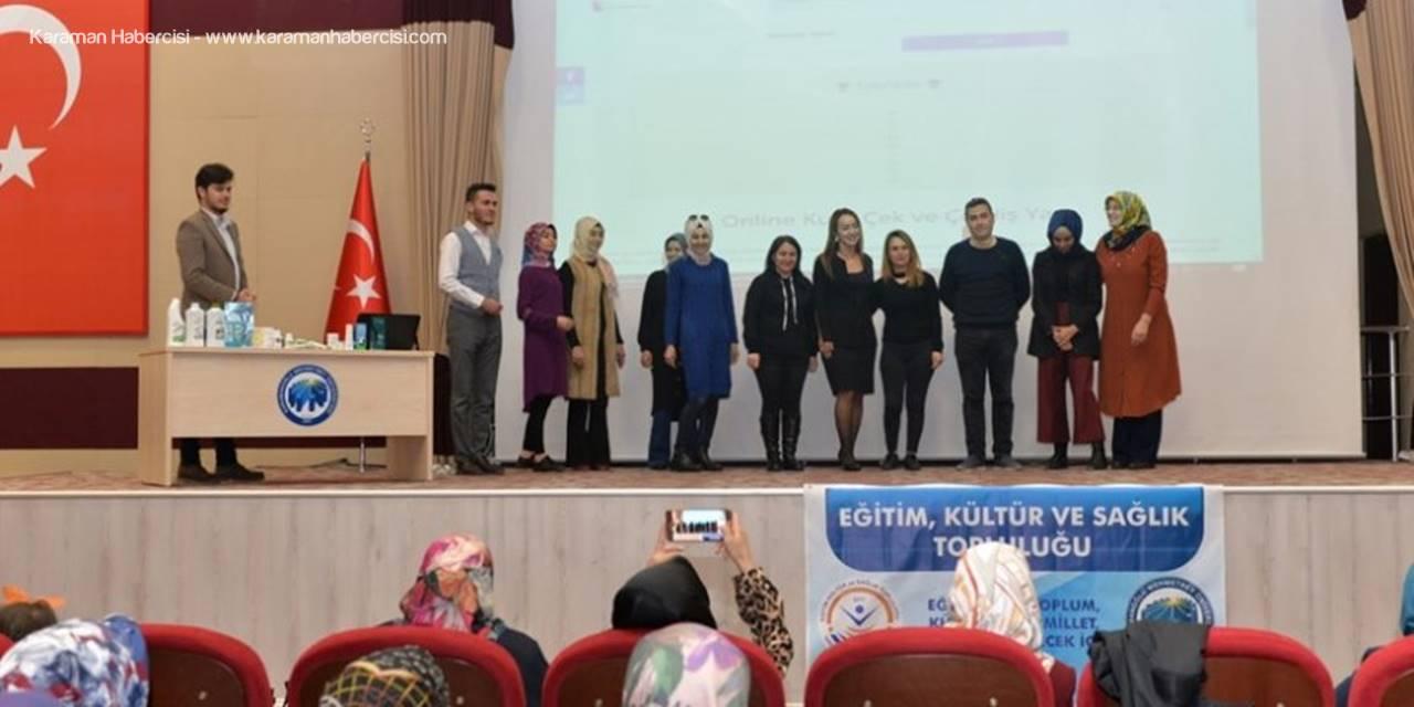 """KMÜ'de """"Optimum Sağlık Eğitimi"""" Verildi"""