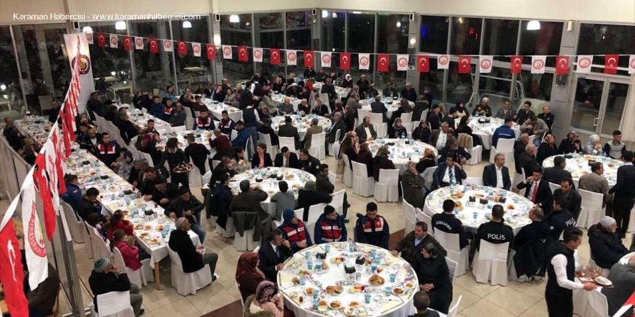 Konya'da Şehit Aileleri Gazilerle Yemekte Buluştu