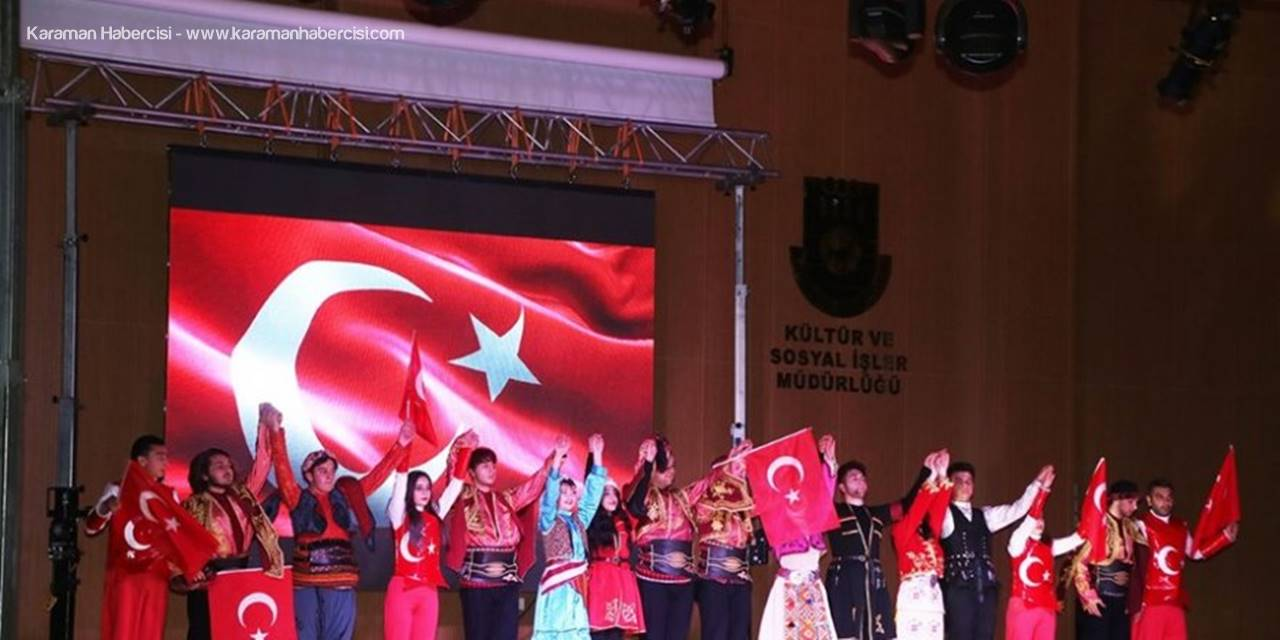 """""""Son Siper Çanakkale""""Tiyatrosu Karaman'da Beğeniyle İzlendi"""
