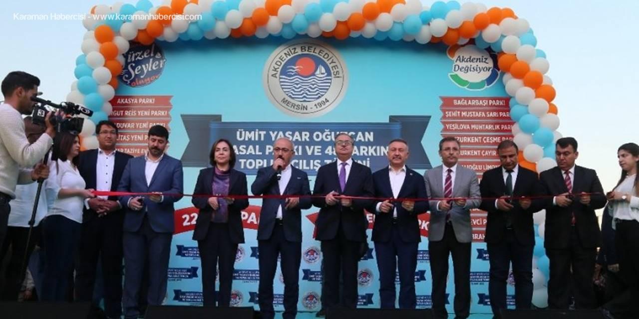 Mersin'in Akdeniz Belediyesi Tarafından 48 Parkın Açılışı Yapıldı