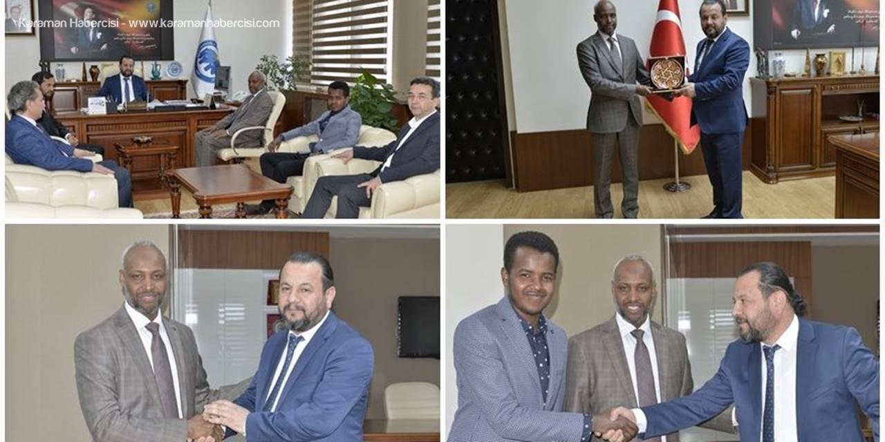 Somali Kültür Ataşesinden KMÜ Rektörü Mehmet Akgül'e Ziyaret