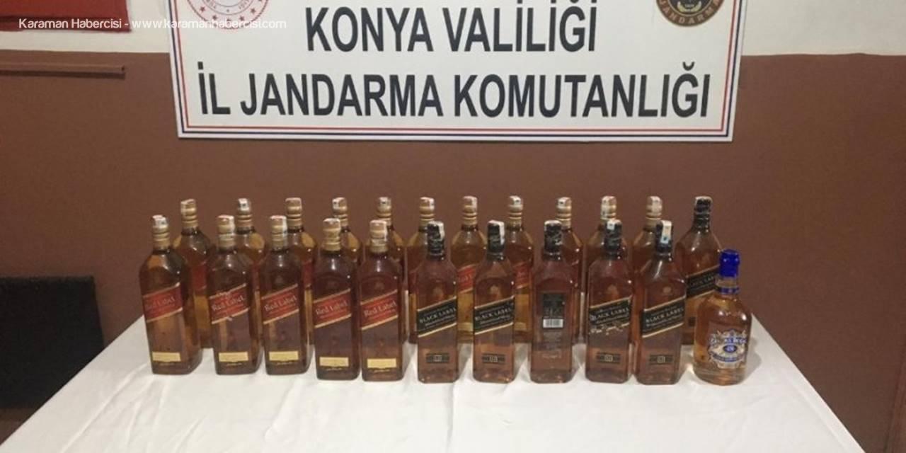 Konya'da Kaçak İçki Operasyonu: 2 Gözaltı