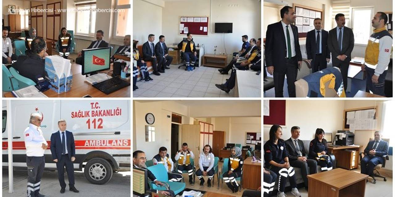 Karaman İl Sağlık Müdürü Dr. Hasan Arslan ATT leri Ziyaret Etti