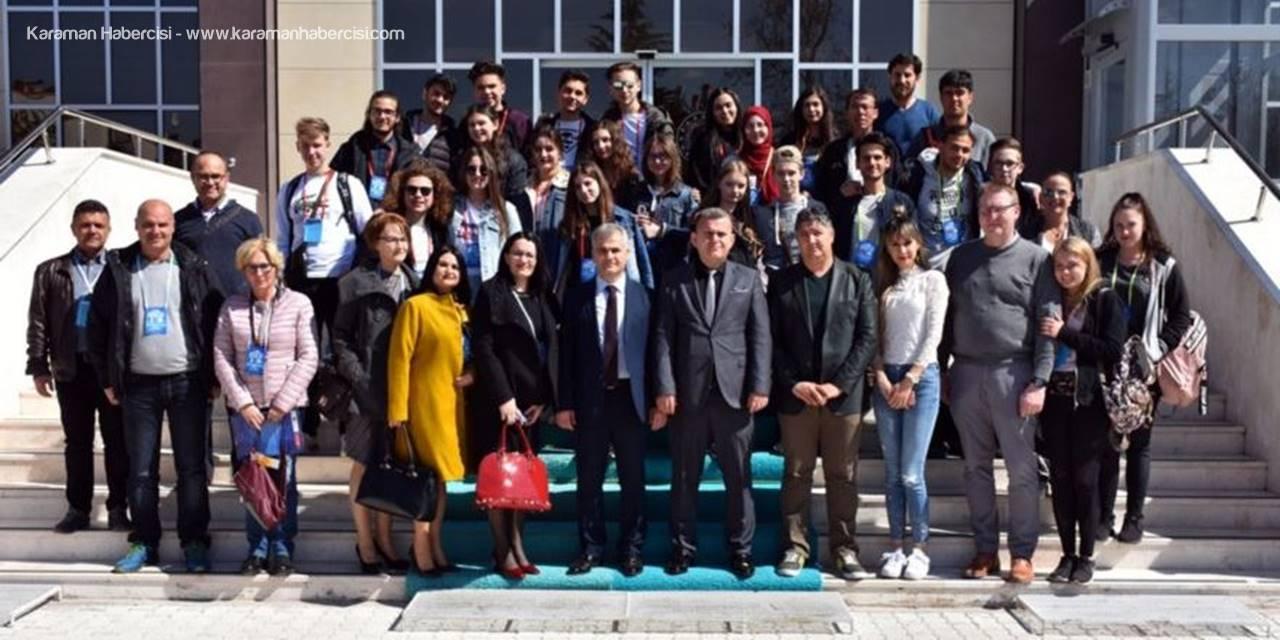 Karaman Milli Eğitim Müdürlüğü Avrupa'dan Gelen Eğitimcileri ve Öğrencileri Ağırladı