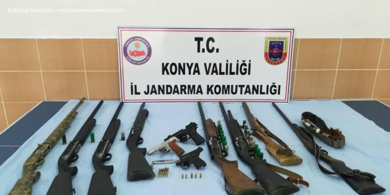 Konya'da Ruhsatsız Silah Satıcılarına Operasyon