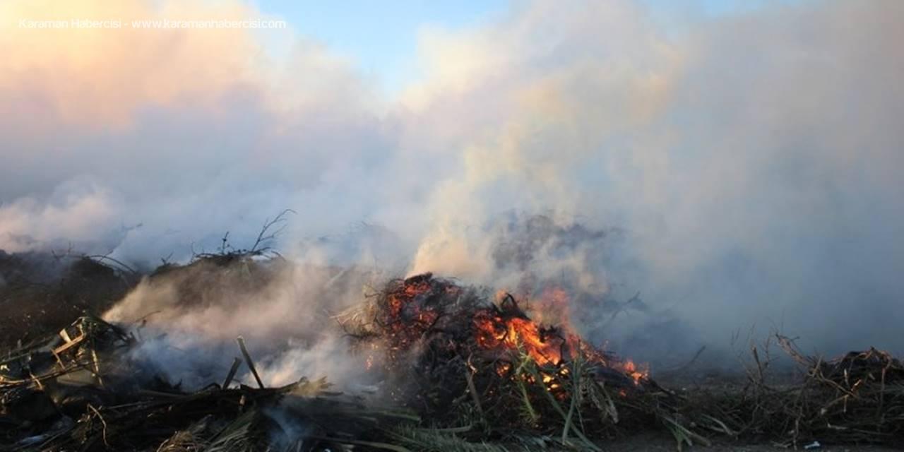 Antalya'da Çöp Toplama Merkezinde Yangın