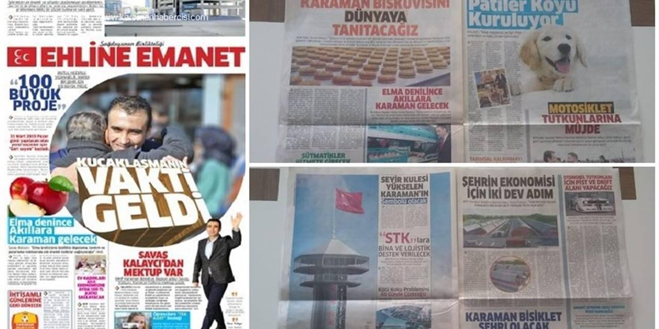 """Karaman'da """"Ehline Emanet"""" Gazetesi Dağıtılıyor"""