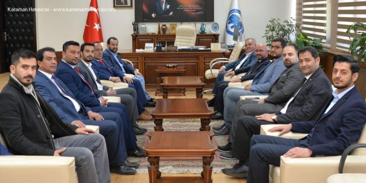 AK Parti Teşkılatından KMÜ Rektörü Mehmet Akgül'e Ziyareti