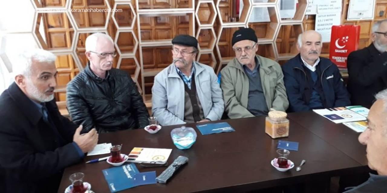 Saadet Partisi Belediye Başkan Adayı Şaban Şahin'den Bal Paketleme Tesisine Destek
