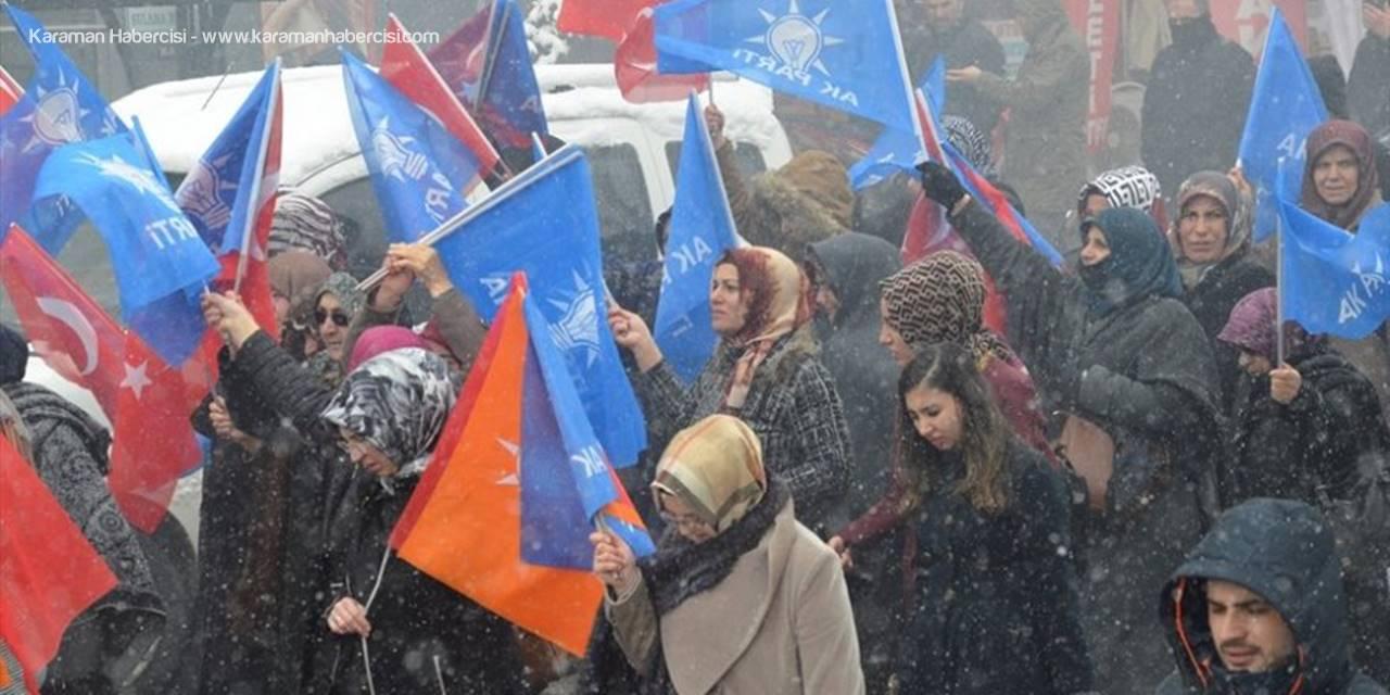 """AK Parti İl Teşkilatı """"Güçlü Karaman"""" Yürüyüşü Düzenledi"""