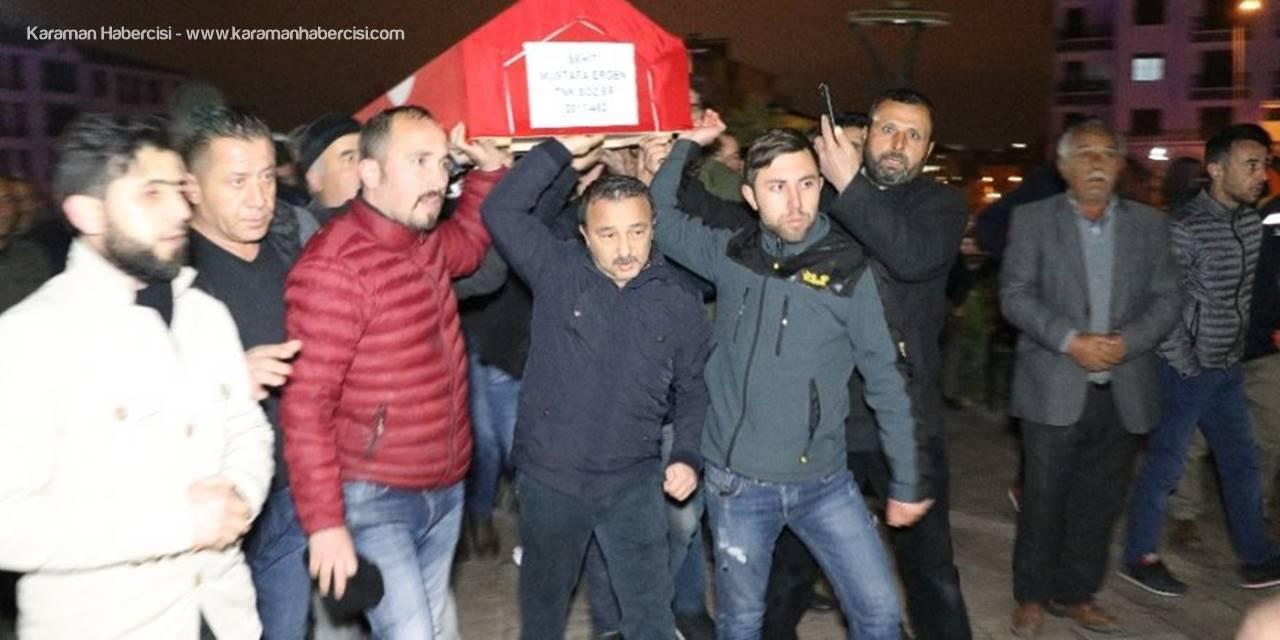 Afrin Şehidinin Cenazesi Memleketi Aksaray'a Getirildi