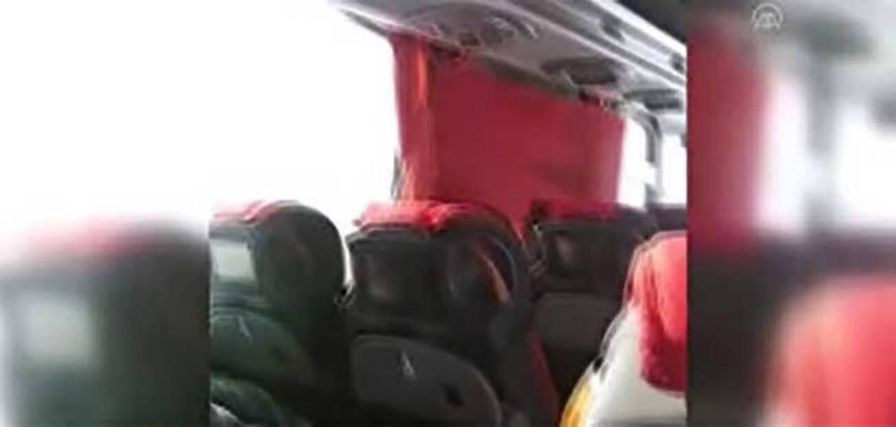 Kazada Camları Kırılan Otobüs Aktarma Yapmadan Yoluna Devam Etti