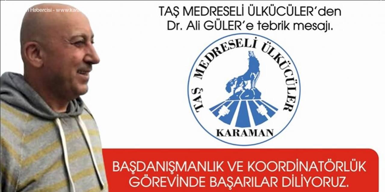Taş Medreseli Ülkücüler Derneği Karaman İl Başkanı Mehmet Uçucu'dan Tebrik Mesajı