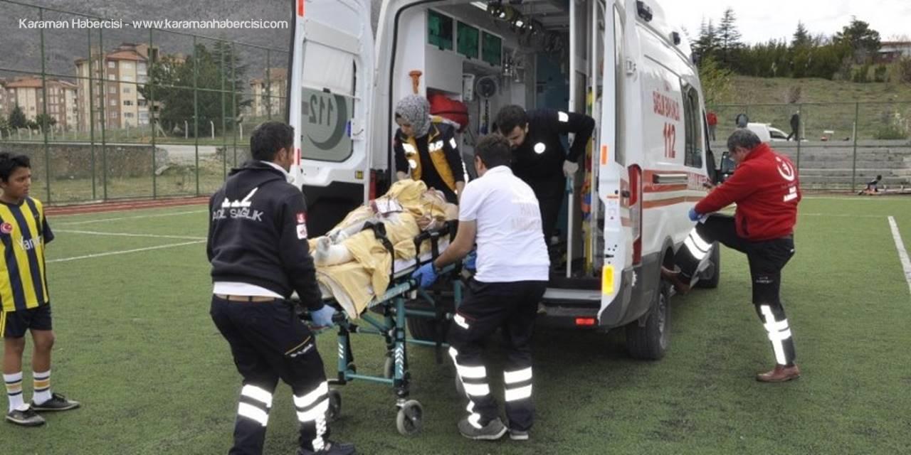Konya'da Ayağını Çapa Makinesine Sıkıştıran Kişi Ağır Yaralandı