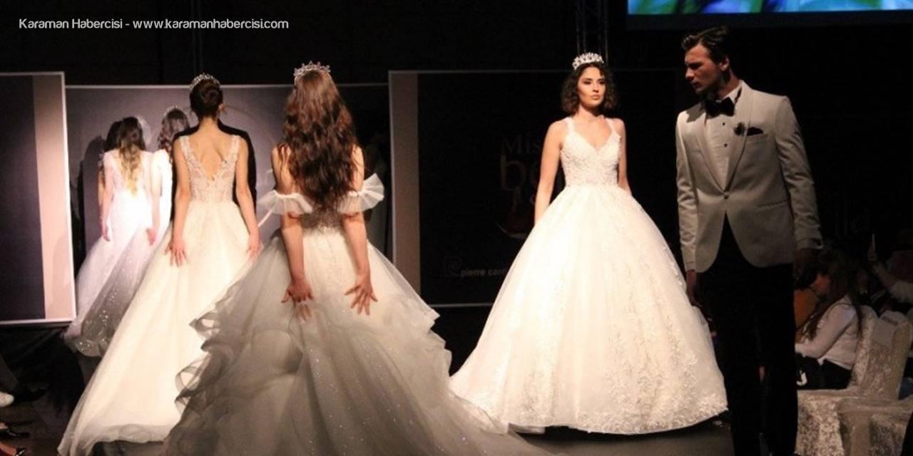 Karaman'da Ünlü Mankenlerden Gelinlik Defilesi