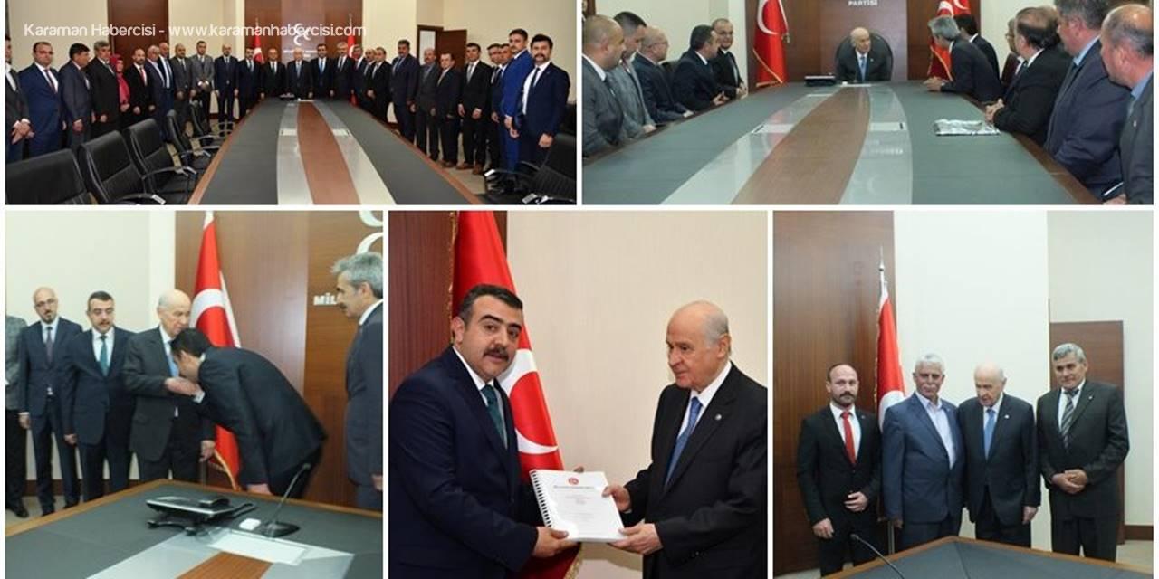 MHP Karaman Teşkilatı Devlet Bahçeli'yi Ziyaret Etti