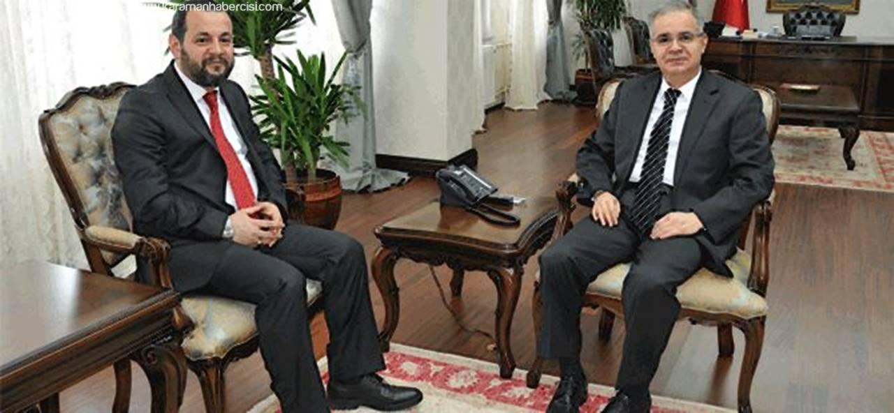 KMÜ Rektörü Akgül'den Vali Tapsız'a Ziyaret