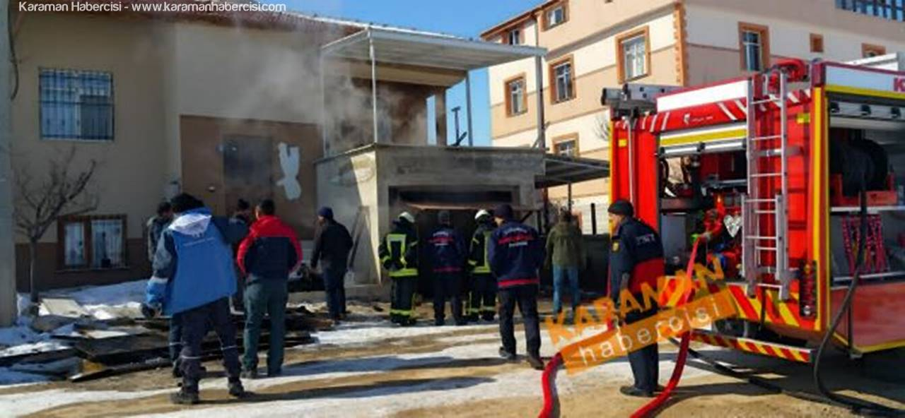 Karaman'da Korkutan Garaj Yangını