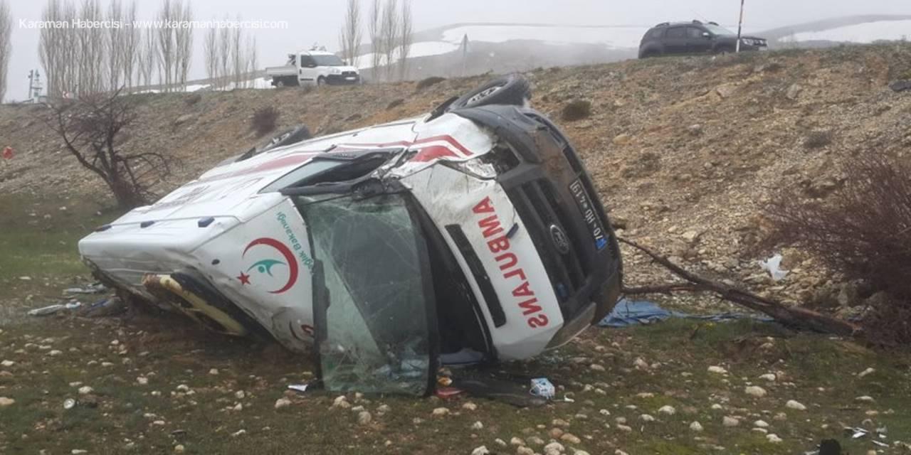 Sarıvelilerde Ambulans Kazası